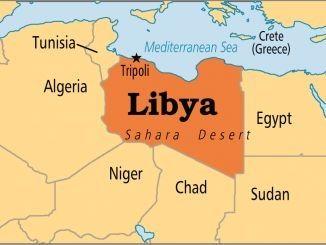 خريطة ليبيا بالانجليزية