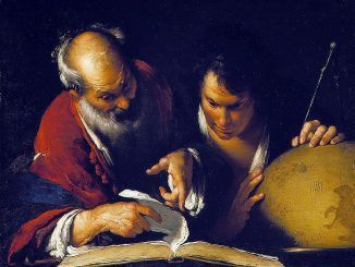Eratosthenes teaching in Alexandria